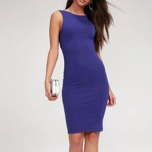 Backless Royal Blue Dress